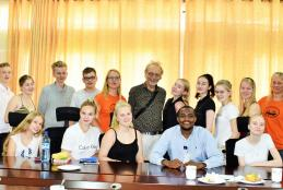 Visit by students and teachers from Porvoo, Finland